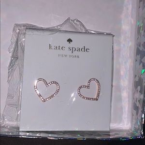 Kate Spade heart earrings